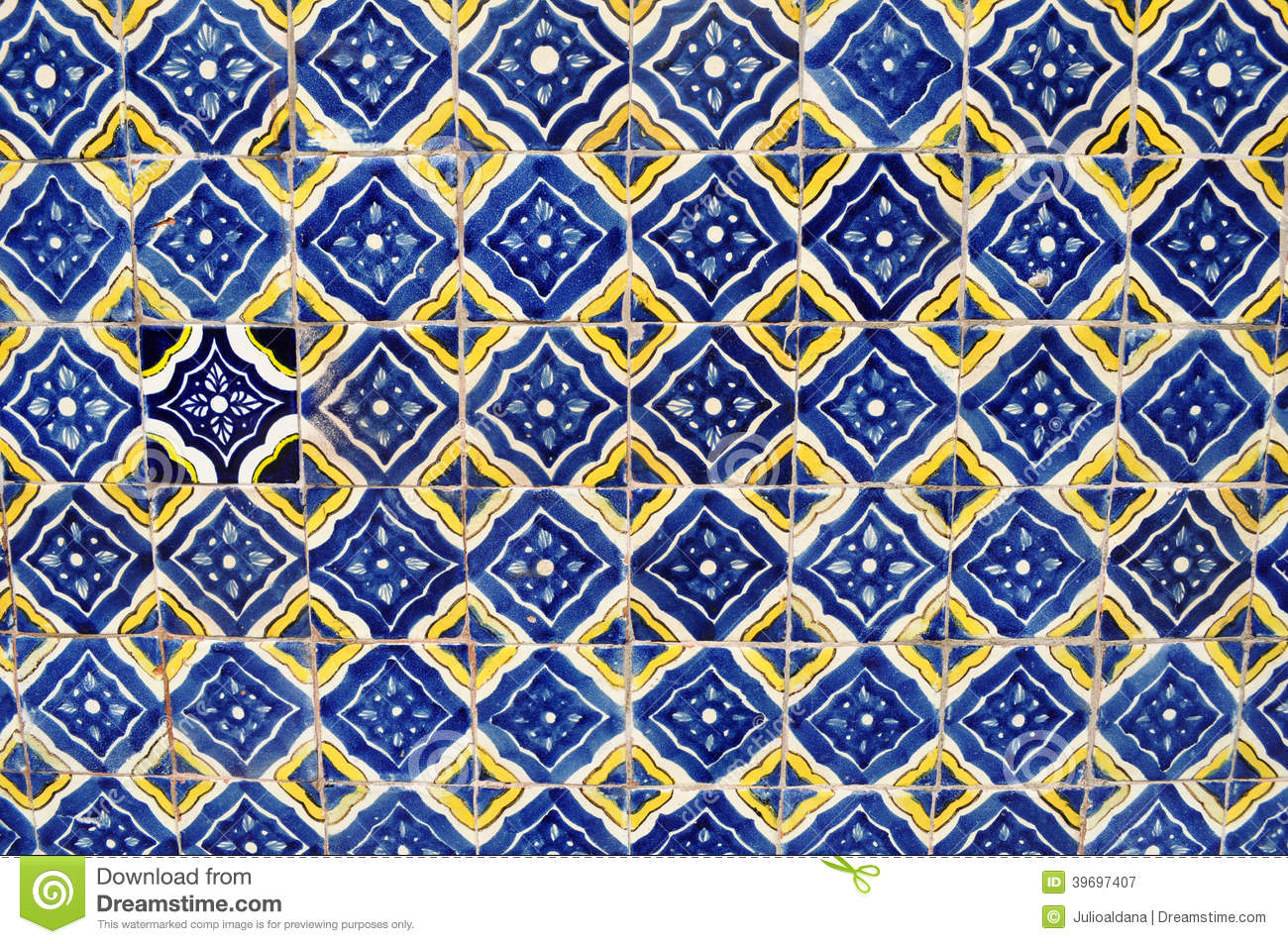 mexican ceramic mosaic wall - tile background stock image - image of