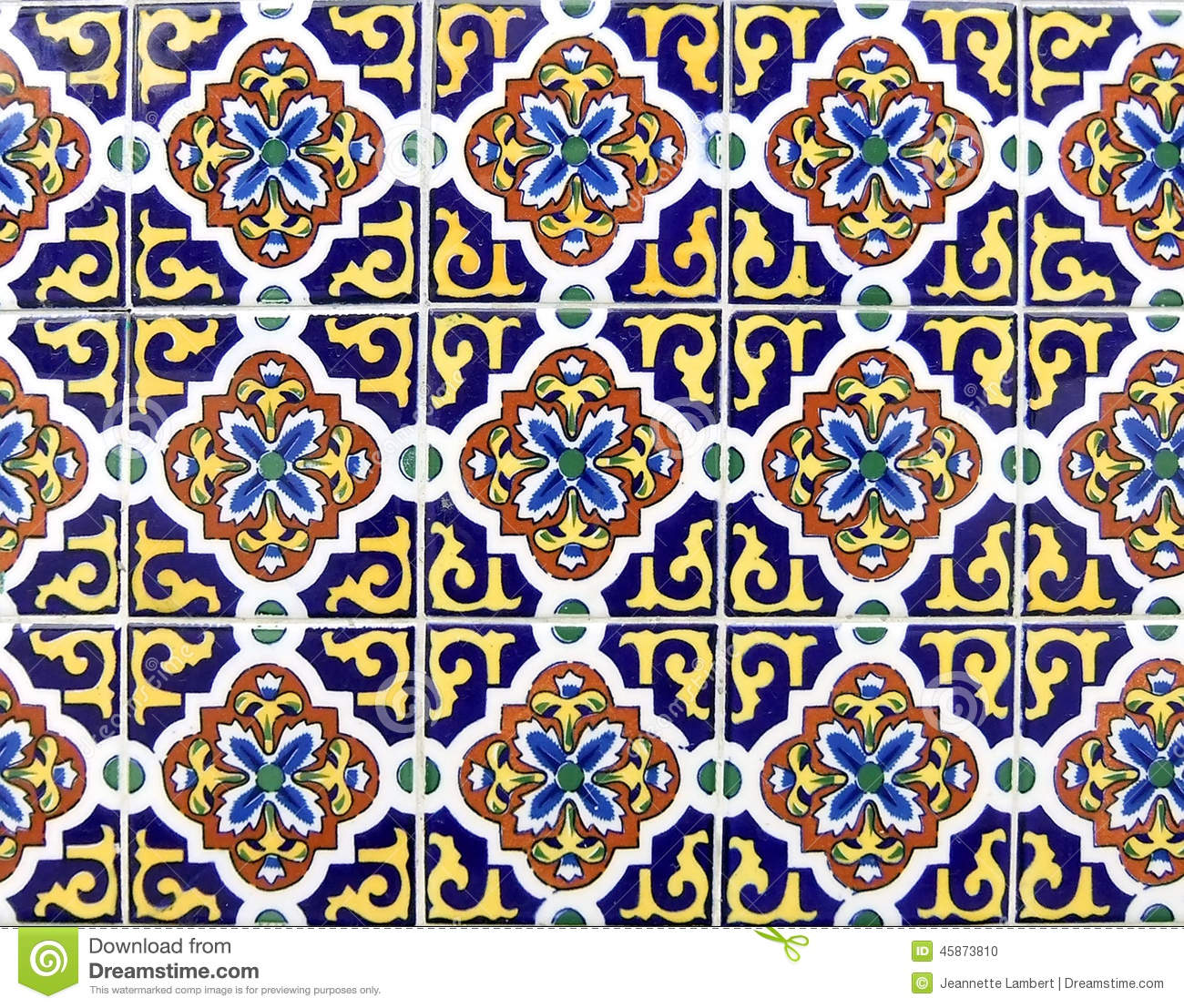 Mexican Ceramic Tile Stock Photo Image 45873810