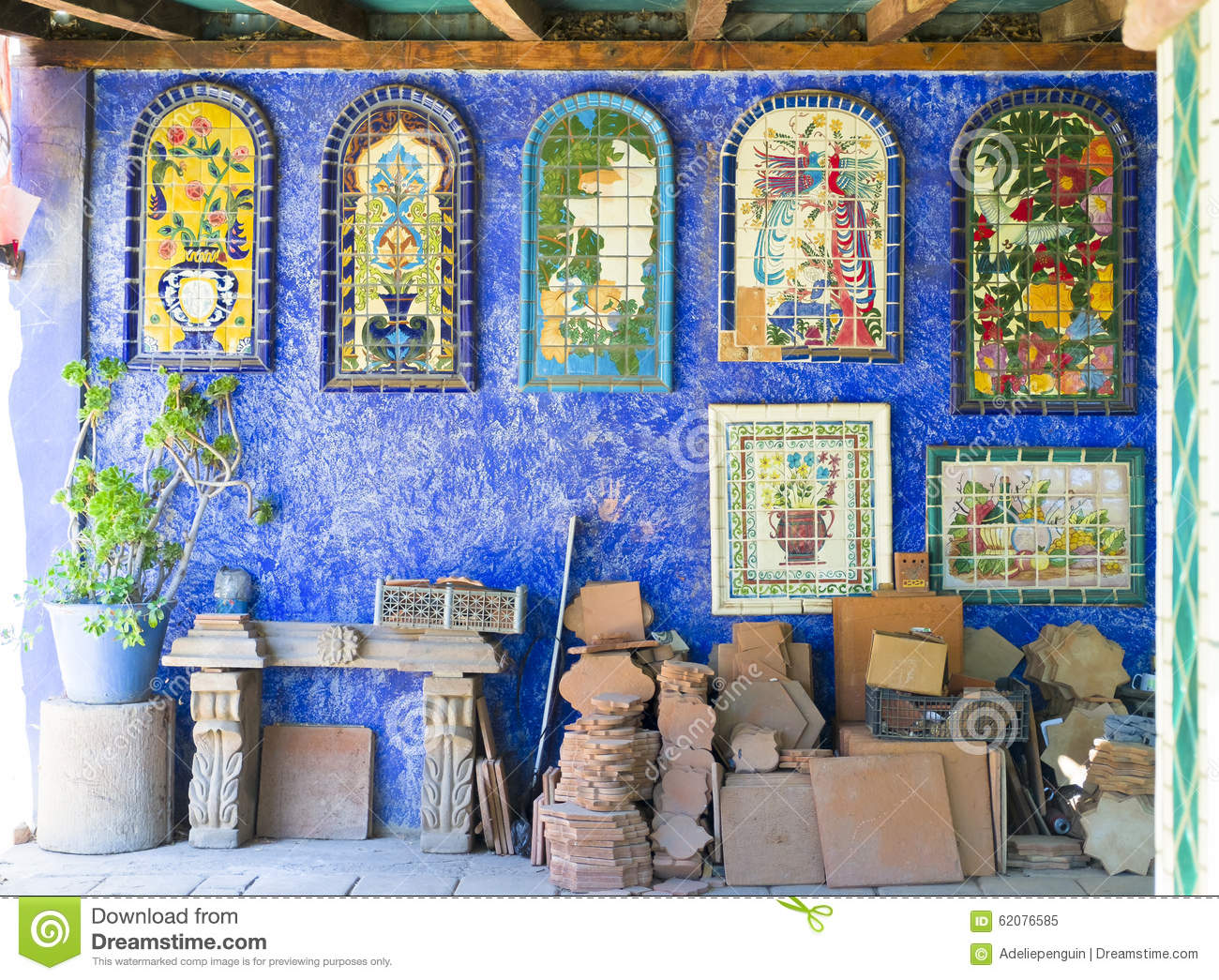 Mexican Ceramic Tile Tecate Mexico Editorial Image