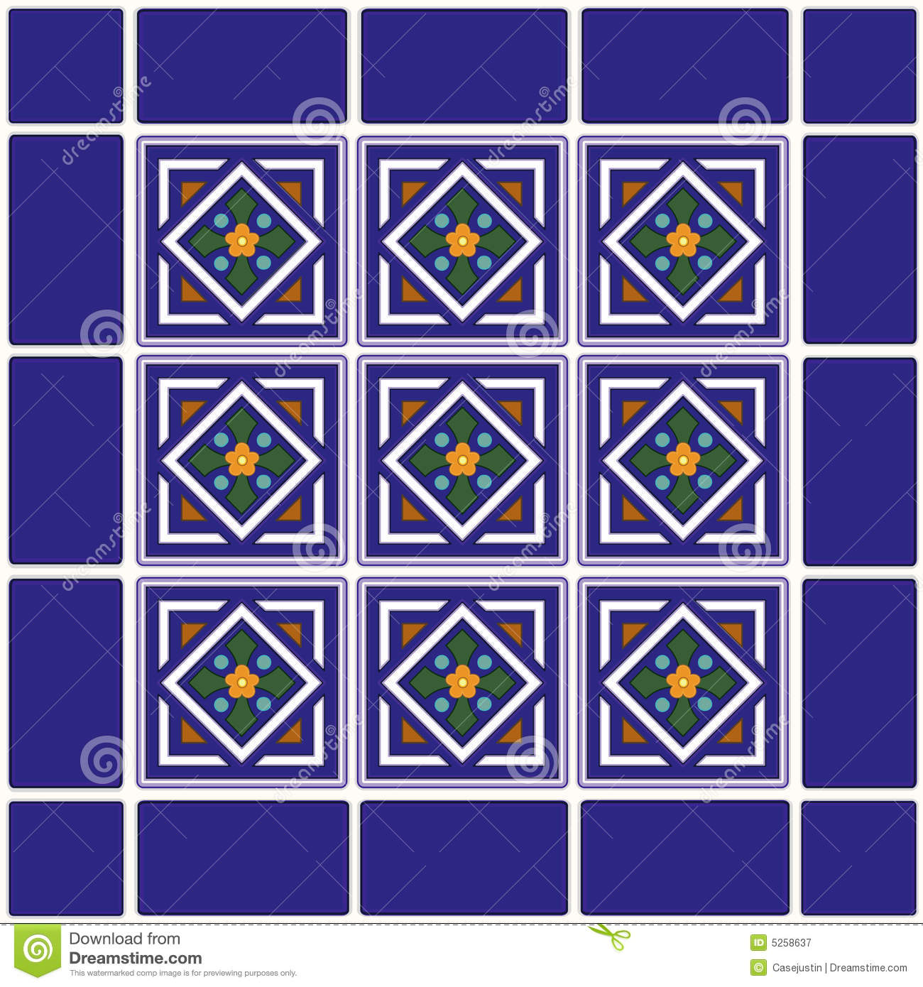 Mexican Ceramic Tiles Background Royalty Free Stock Photography ...