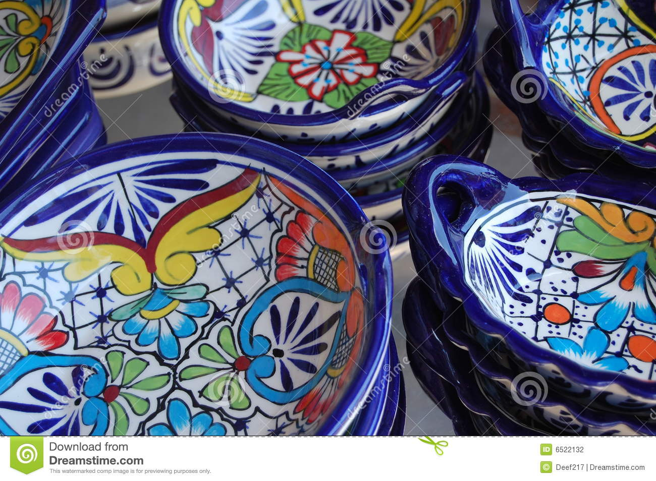 Mexican Ceramics Stock Photo Image Of Pottery Painted