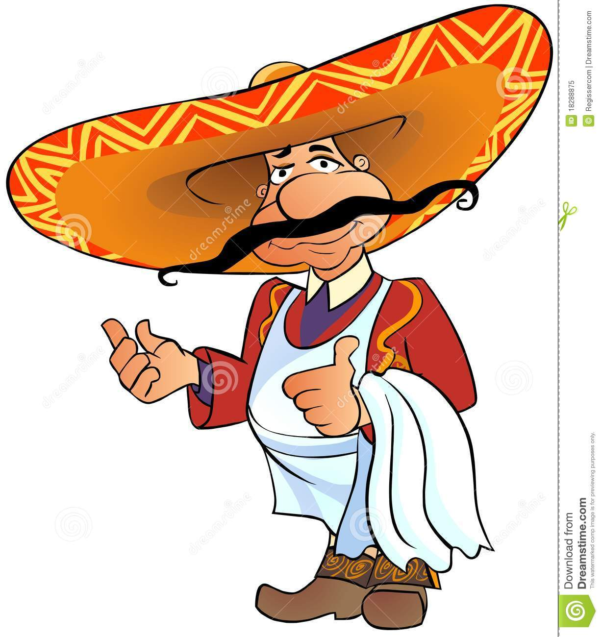 Mexican Chef With Thumb Up. Royalty Free Stock Photo - Image: 18288875