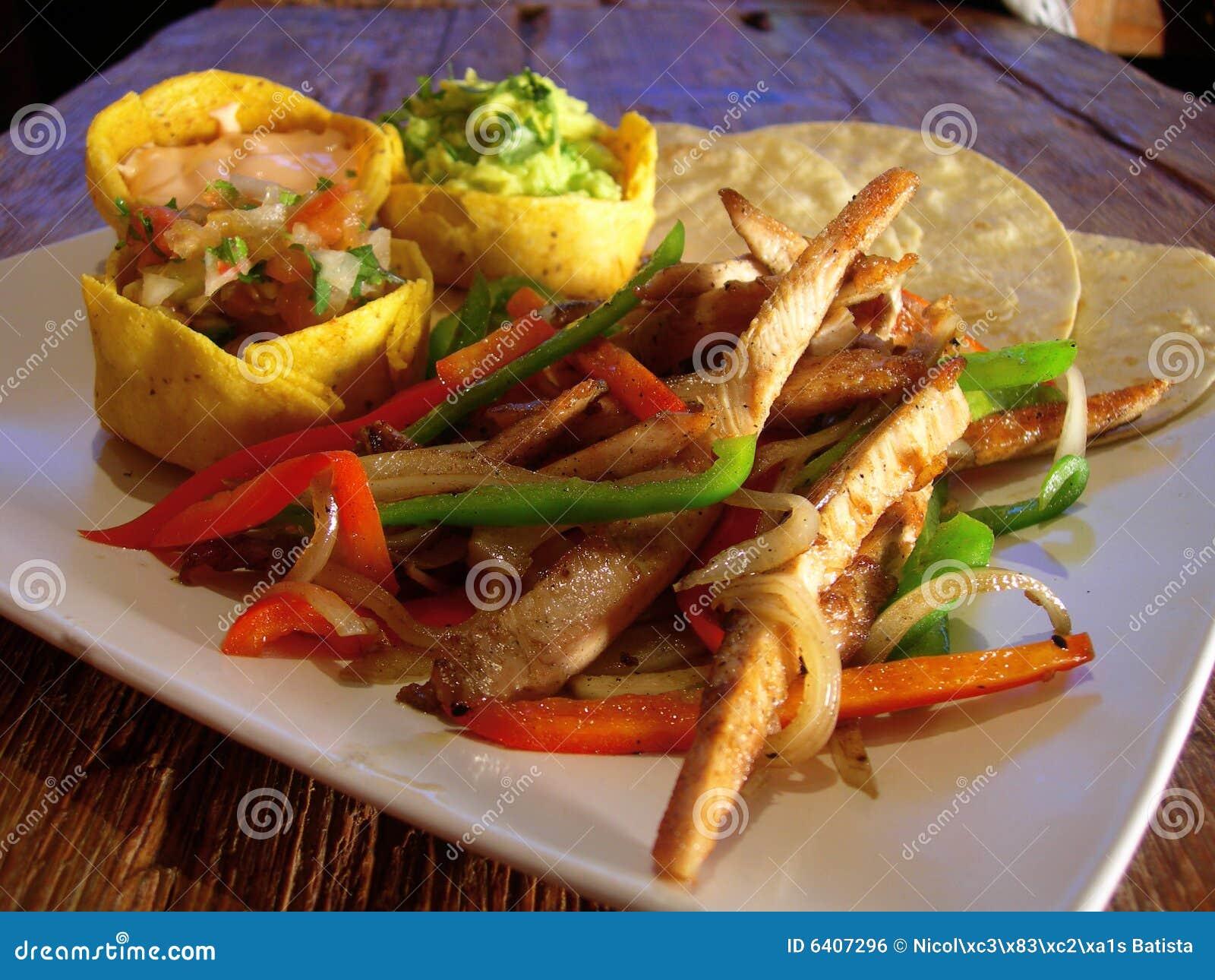 Mexican chicken fajitas