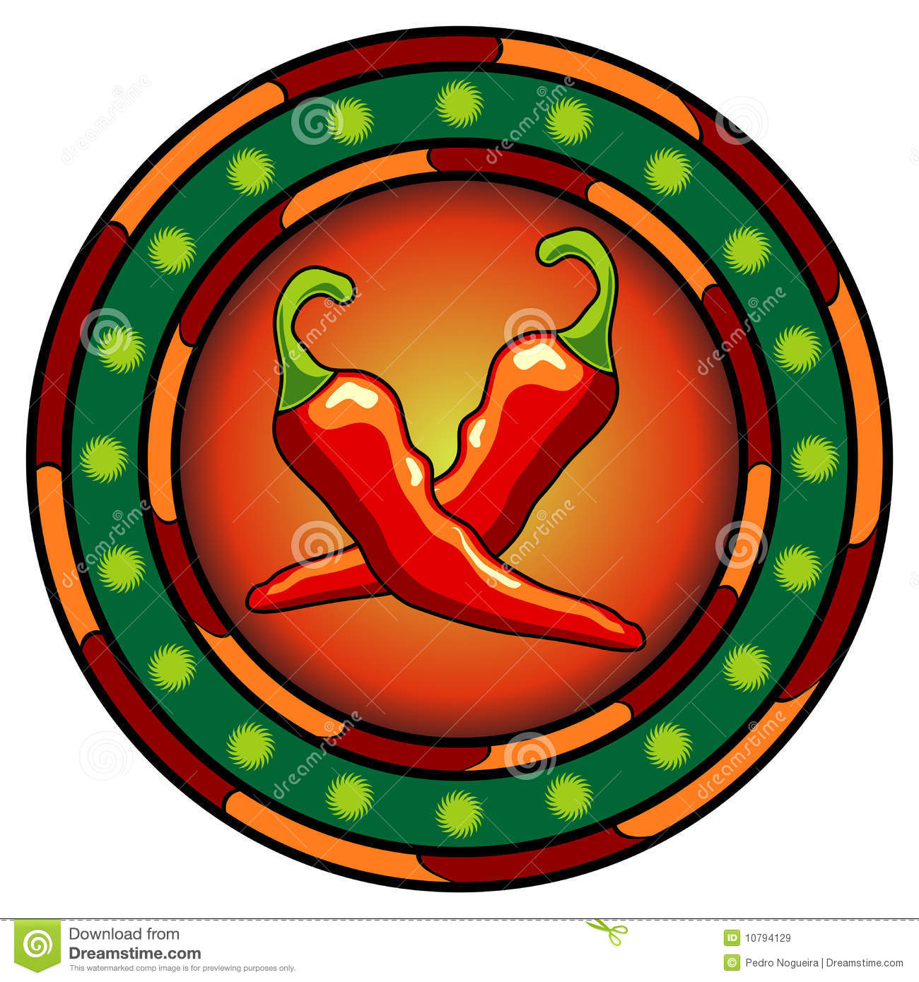 Mexican chili peppers logo