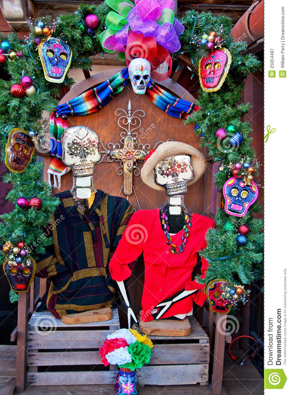 Mexican Christmas Dead Decorations Old San Diego Royalty