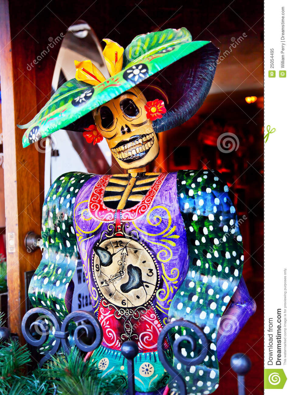 Mexican Christmas Dead Figure Old San Diego Town Stock ...