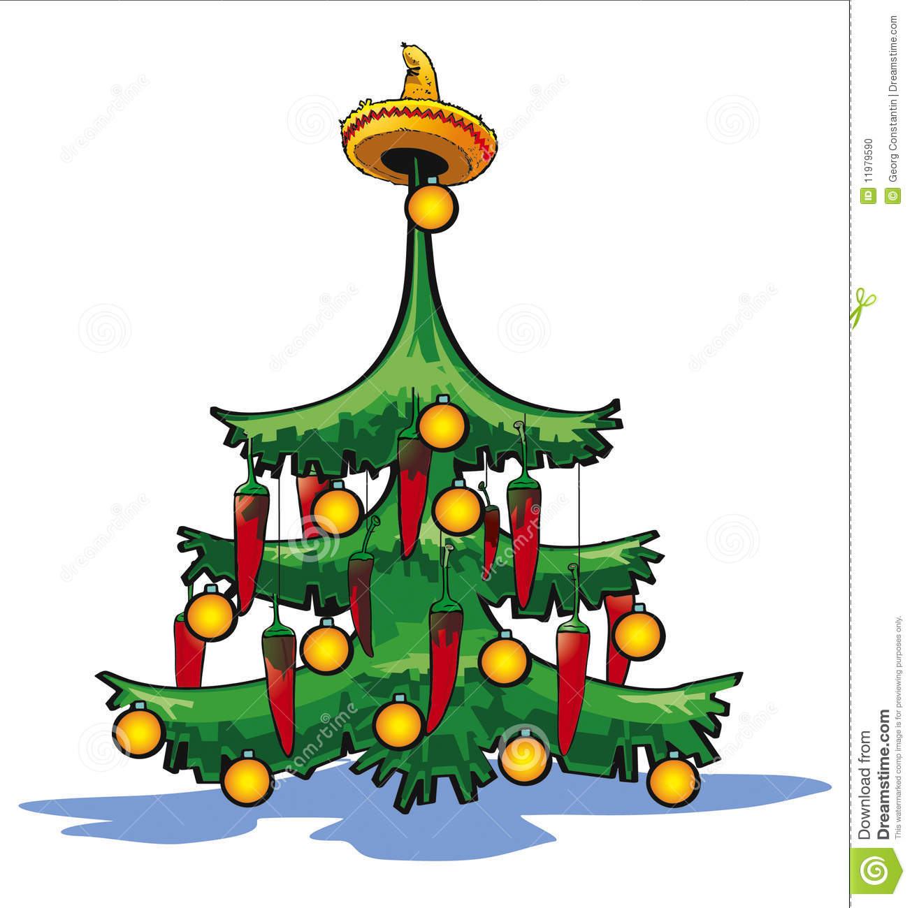 Mexican Christmas.Mexican Christmas Tree Stock Illustration Illustration Of
