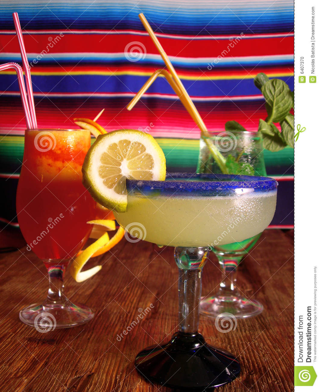Mexican Cocktails Stock Photo. Image Of Color, Juicy