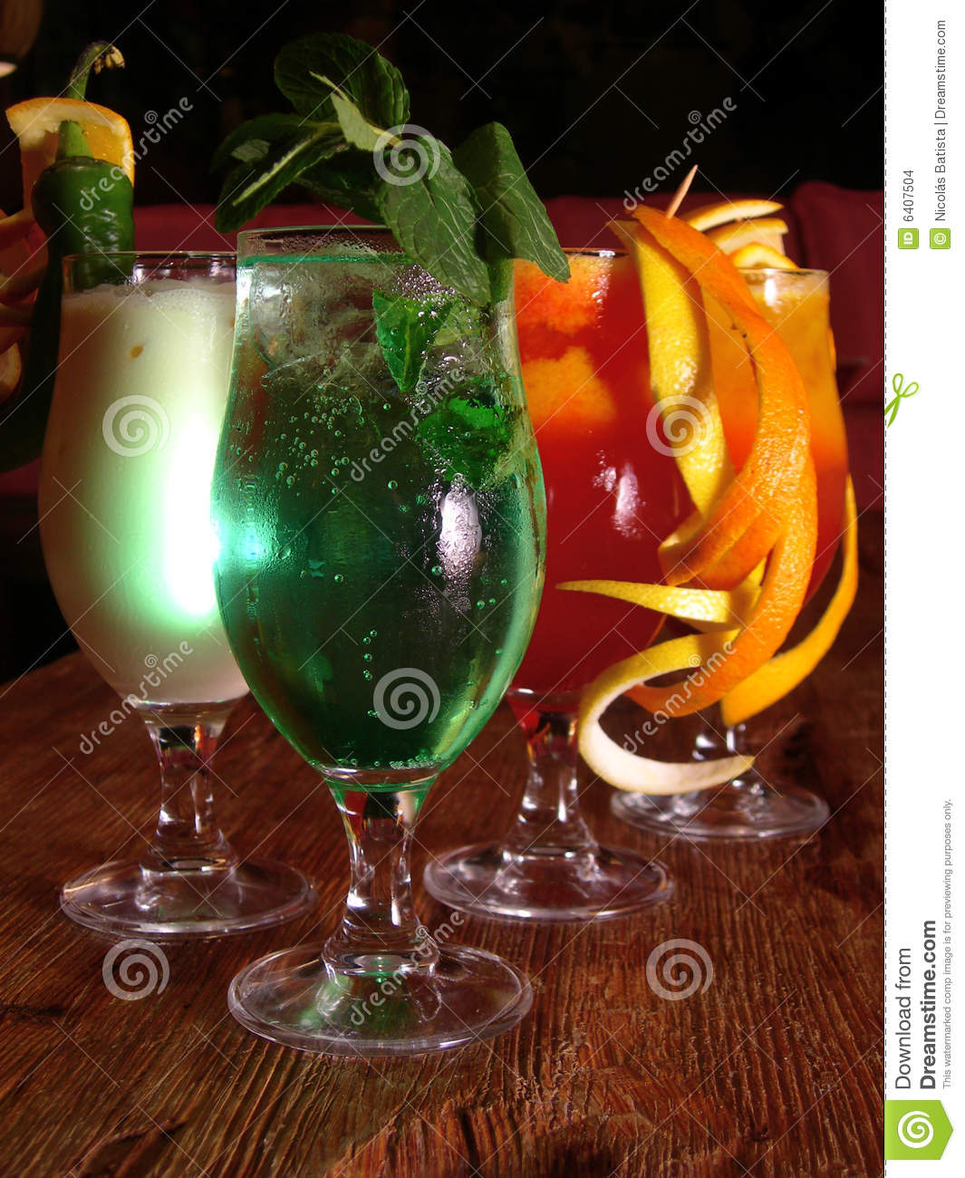 Mexican Cocktails Stock Photo. Image Of Garnish, Club