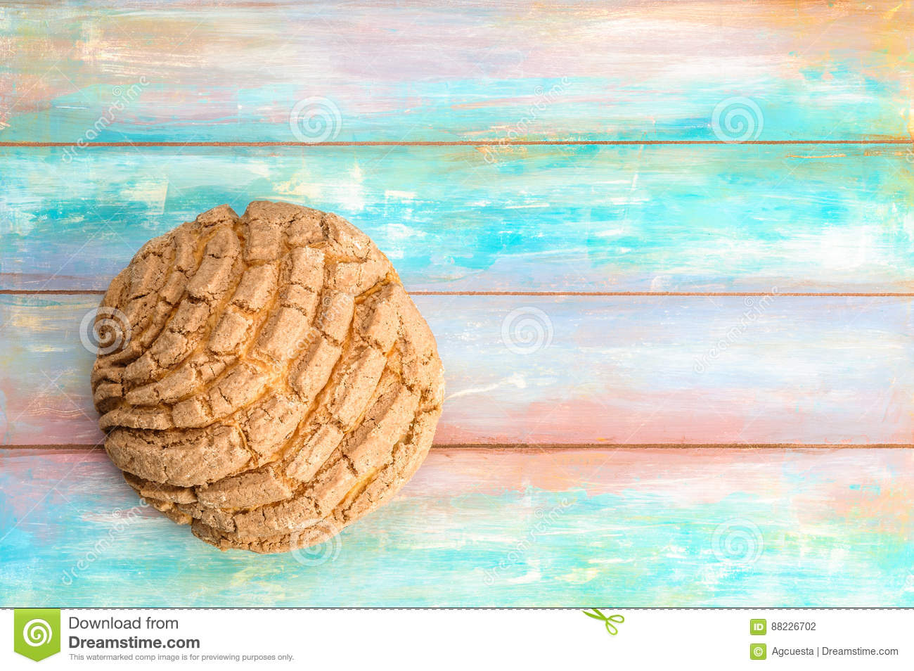 Mexican Concha Sweet Bread Stock Photo Image Of Culture 88226702
