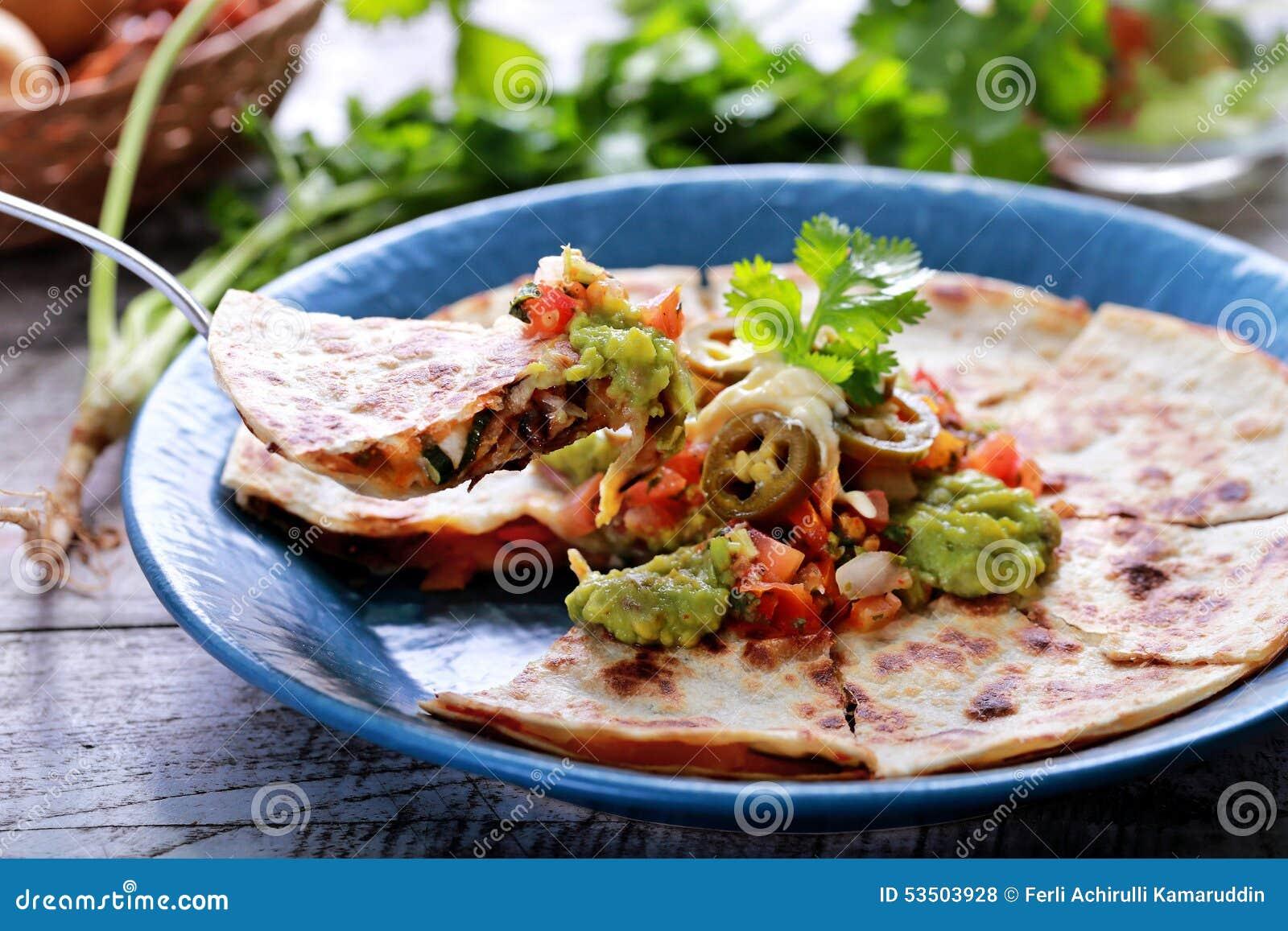Mexican cuisine quesadilla