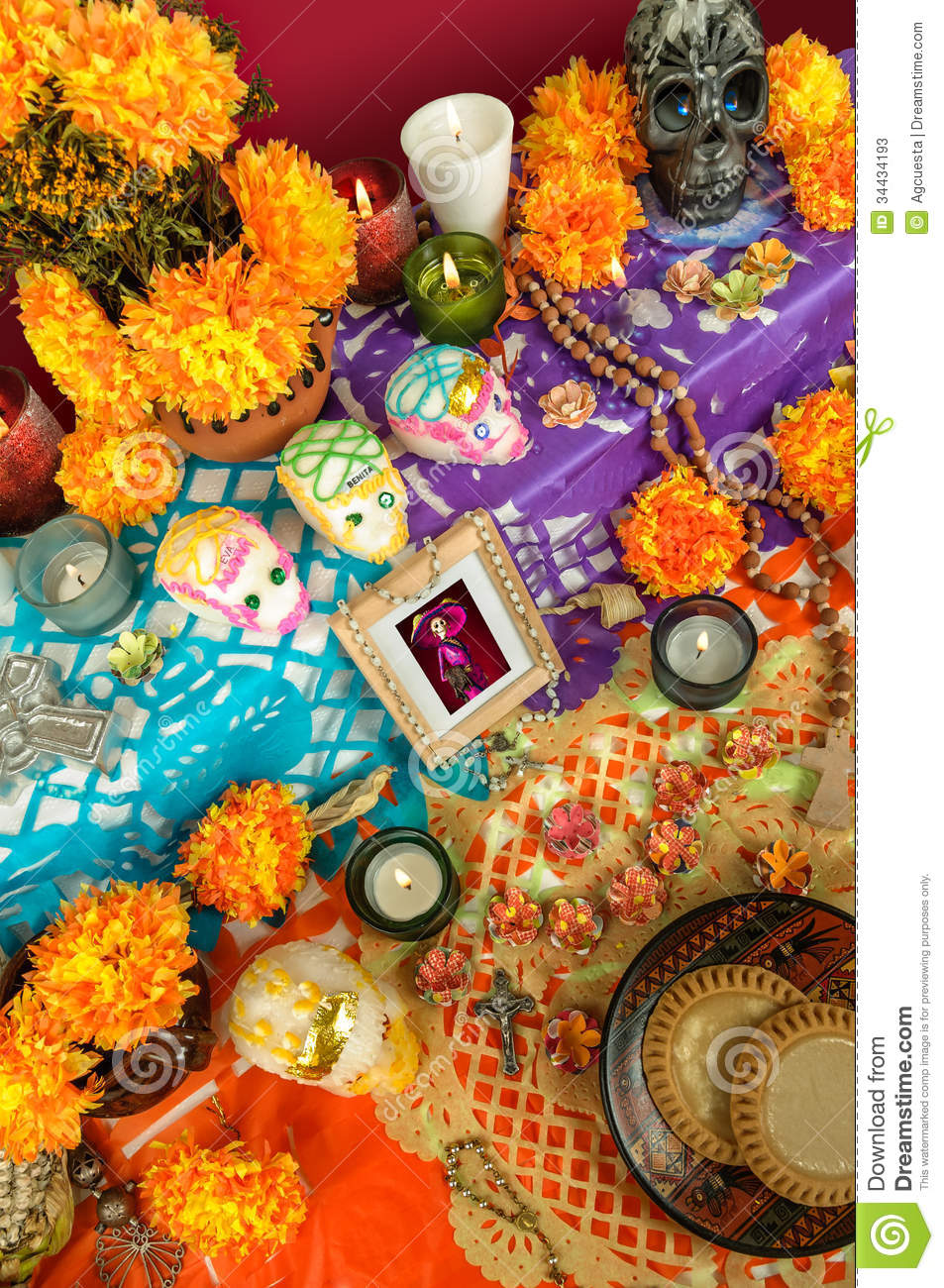 Mexican day of the dead altar dia de muertos stock image image download comp mightylinksfo