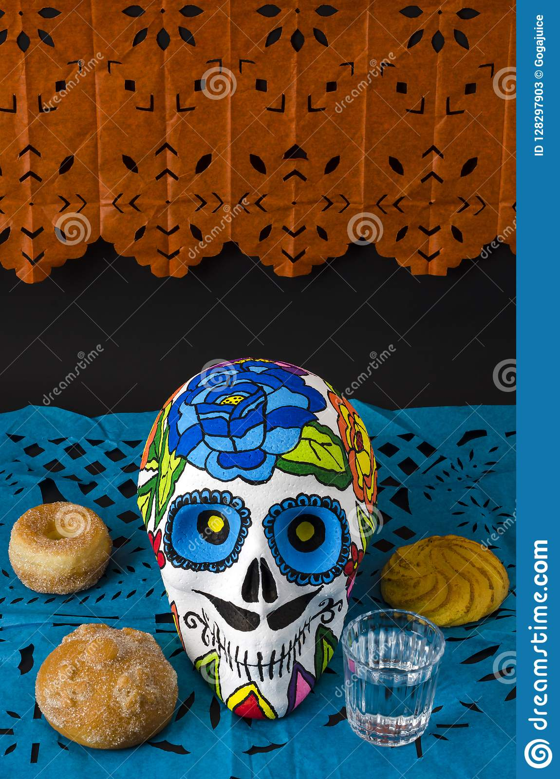Mexican Day Of The Dead Stock Image Image Of Colorful 128297903