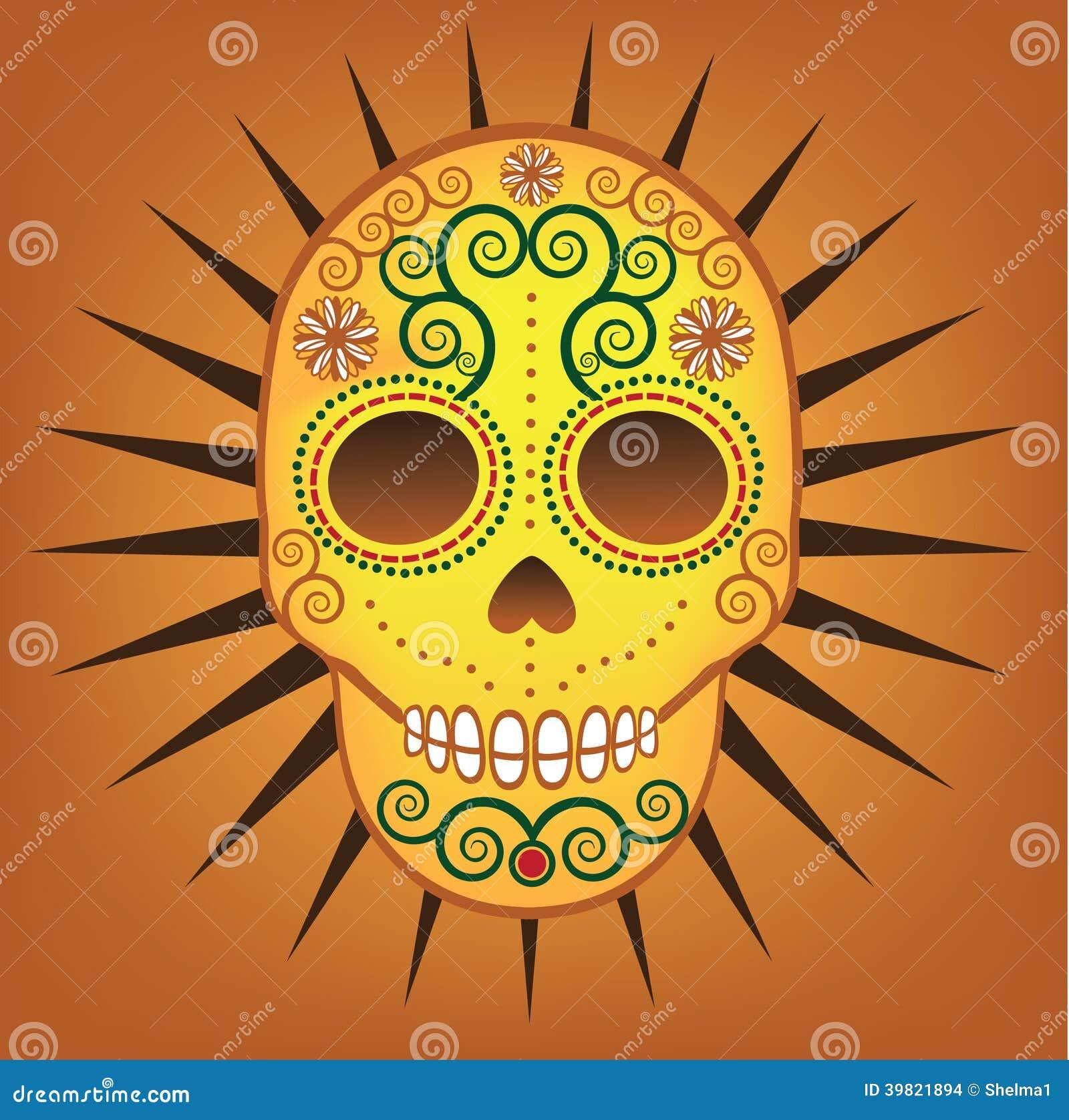 mexican day of the dead sugar skull stock vector illustration of