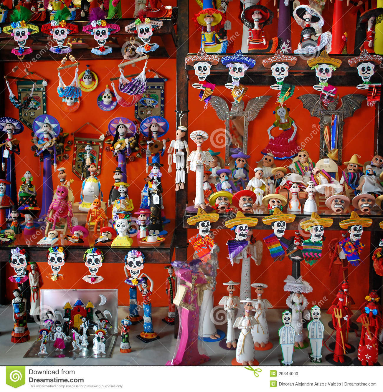 Mexican day of death crafts stock photo image 29344000 for Mexican christmas ornaments crafts