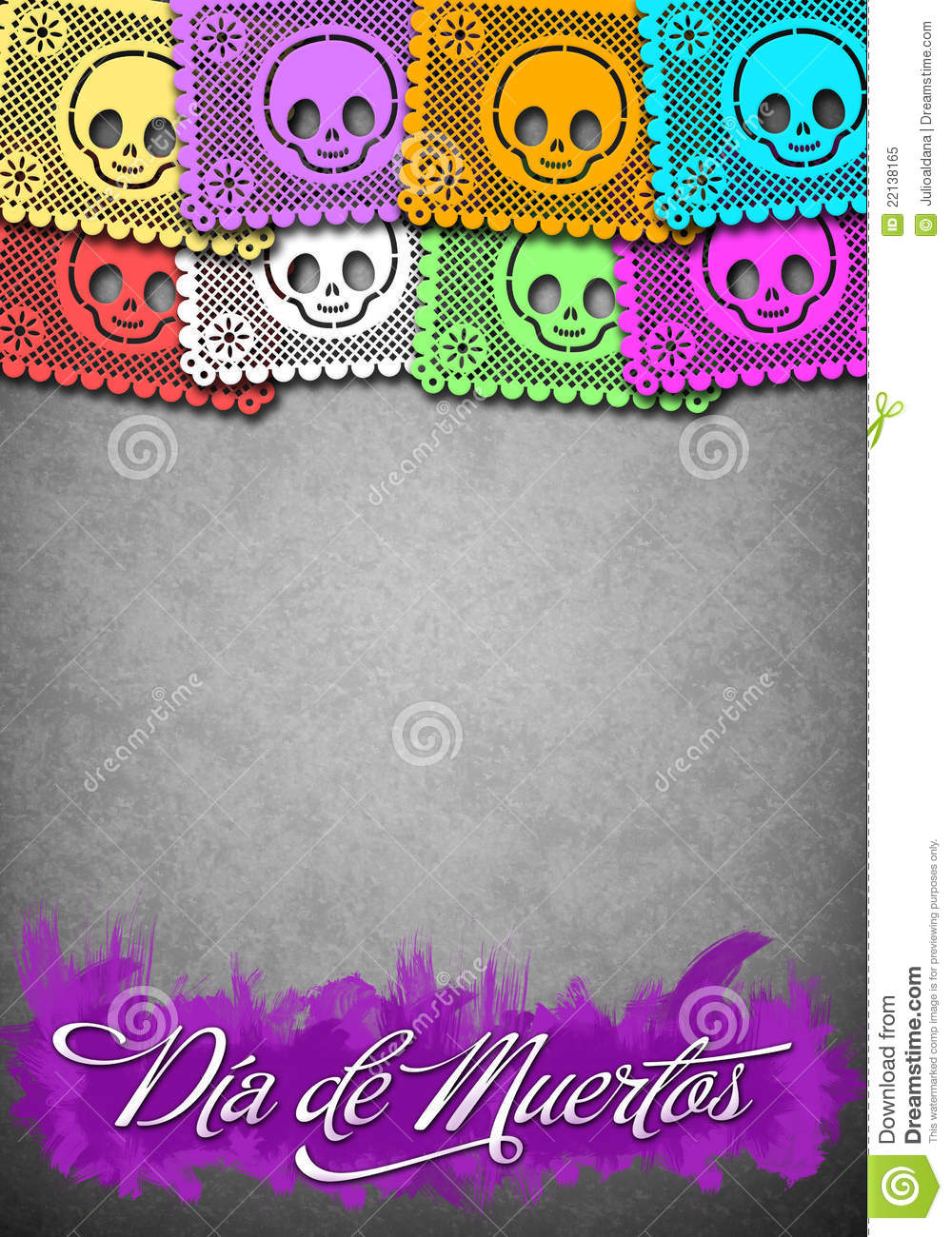 Mexican Day Of The Death Poster Template Royalty Free