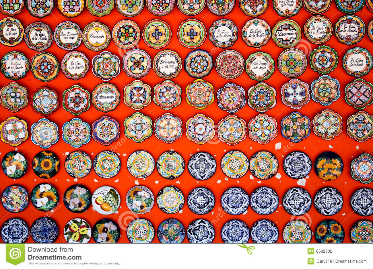 Royalty-Free Stock Photo & Mexican decoration plates stock photo. Image of color - 8682702