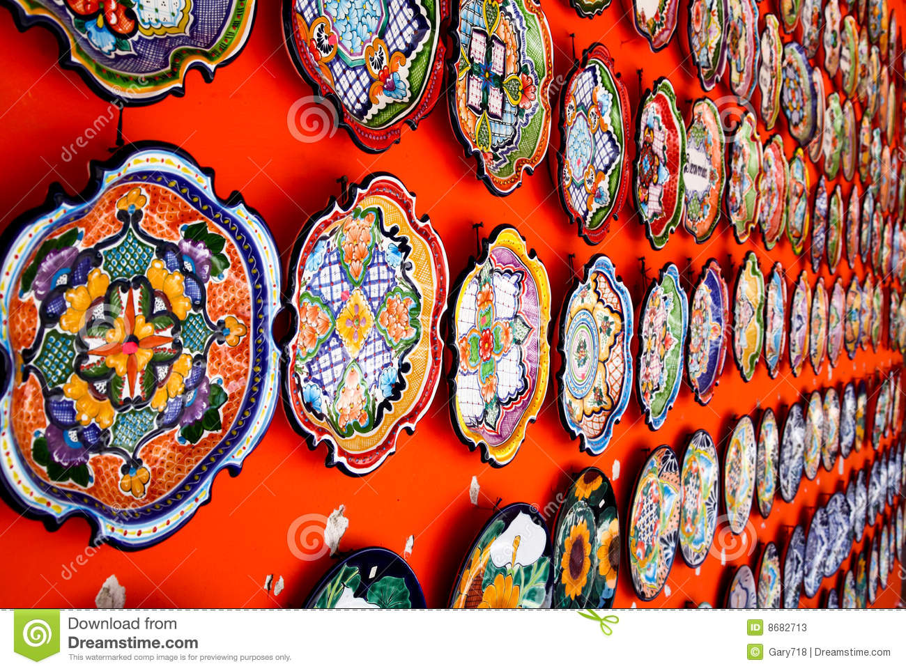 Mexican Decoration Plates Stock Image Image Of Contrast