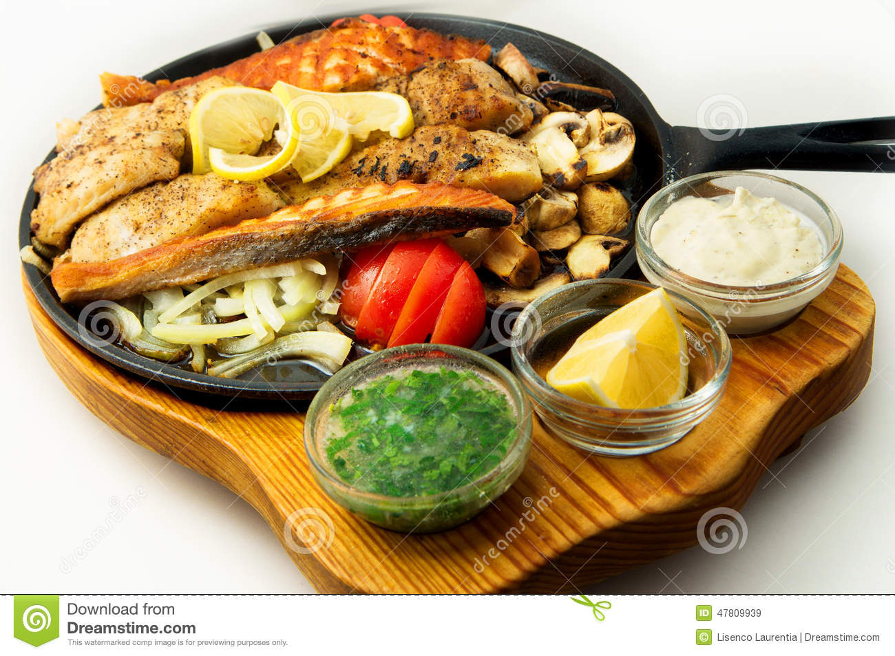 The mexican dishes mega fish grill pan stock photo image for Mexican fish dishes