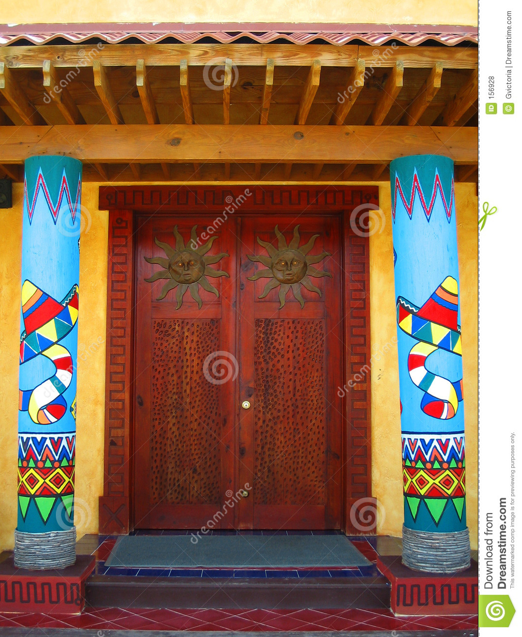 Mexican Doors Stock Photo Image Of Sombrero Door