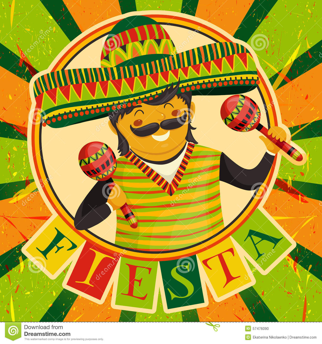 Mexican Fiesta Party Invitation With Mexican Man Playing The – Mexican Themed Party Invitations