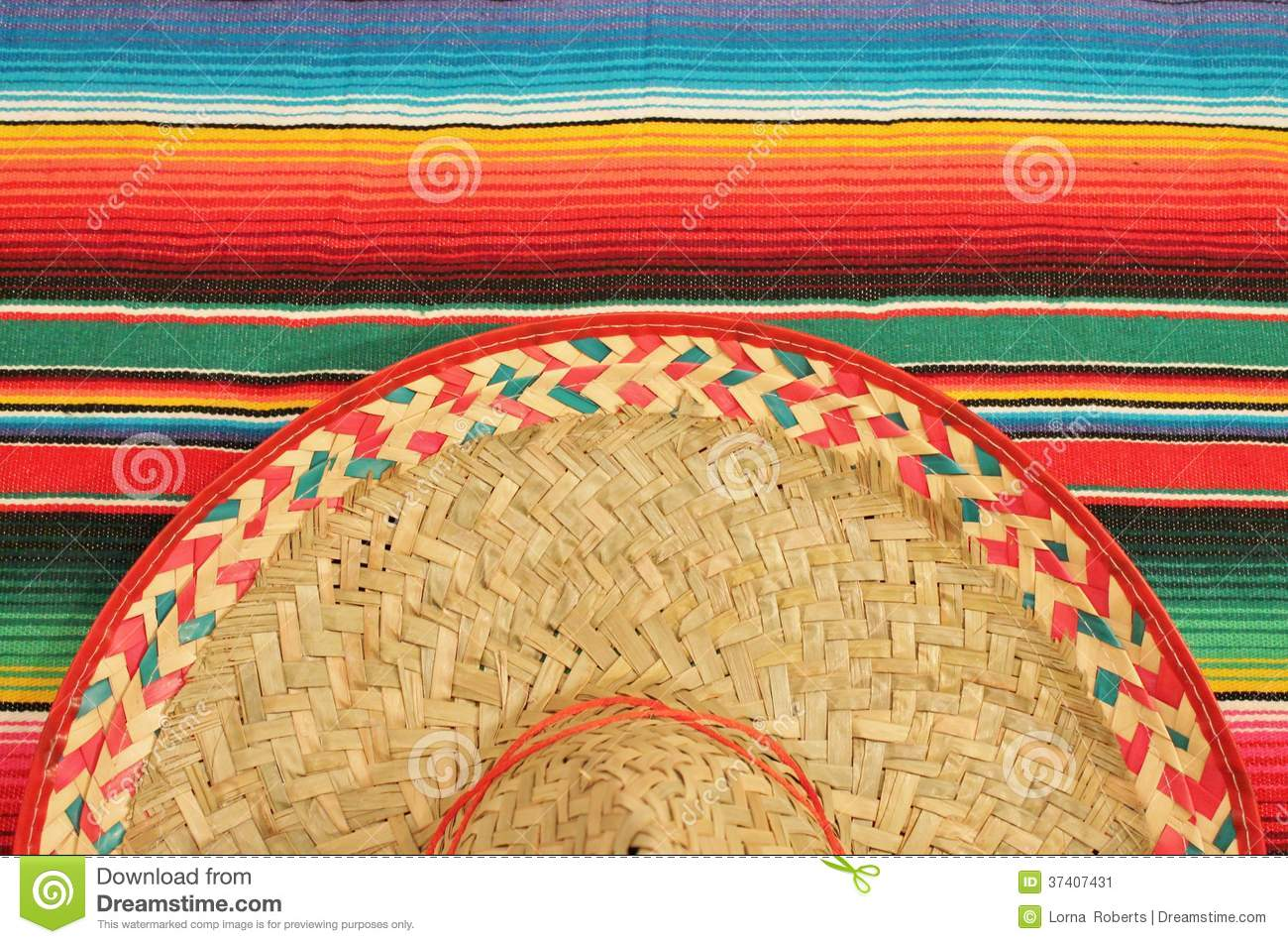 Mexican Fiesta Poncho Rug In Bright Colors With So Stock