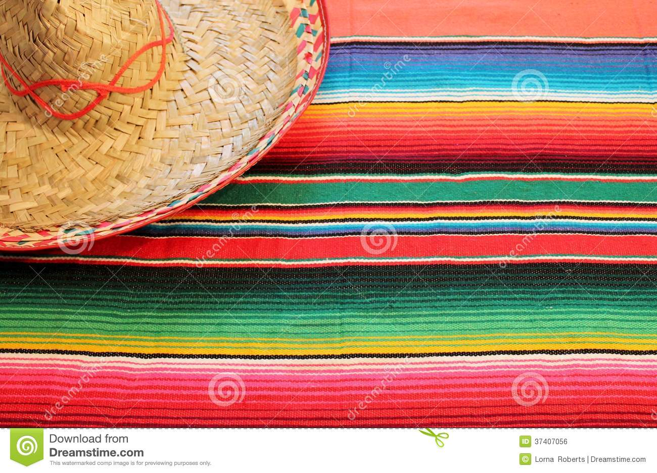 Mexican Fiesta Poncho Rug In Bright Colors With So Royalty