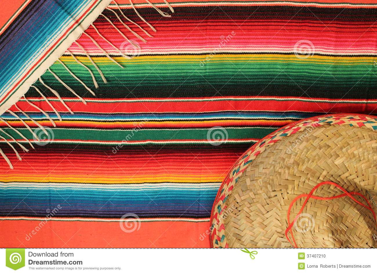 Poncho Mexican Sombrero Mexico Background Fiesta Rug