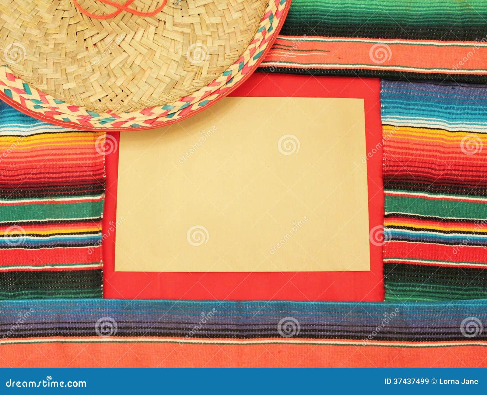 Fiesta Poncho Frame Sombrero Cinco De Mayo Royalty Free