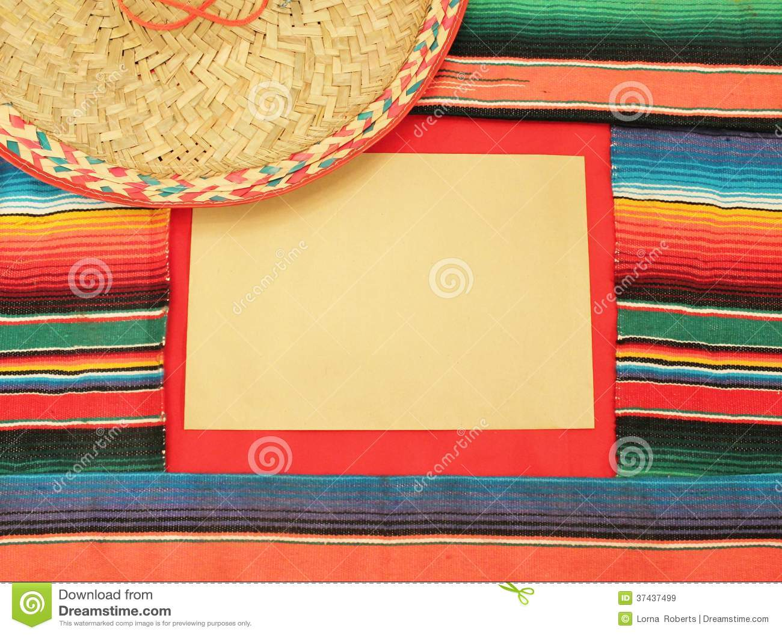 fiesta poncho frame sombrero cinco de mayo