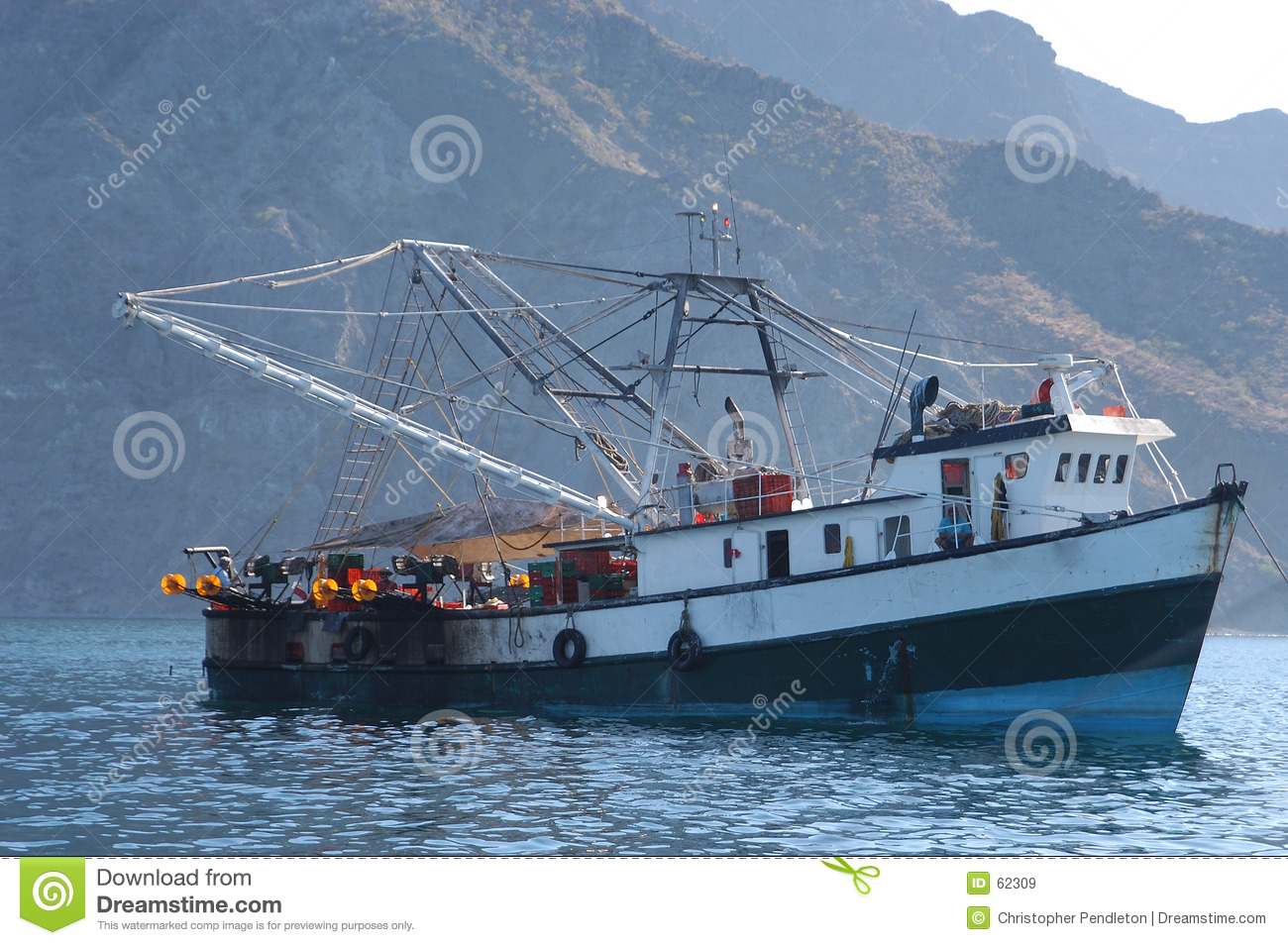 Mexican fishing boat stock image image of fishing barco for Mexico fishing license