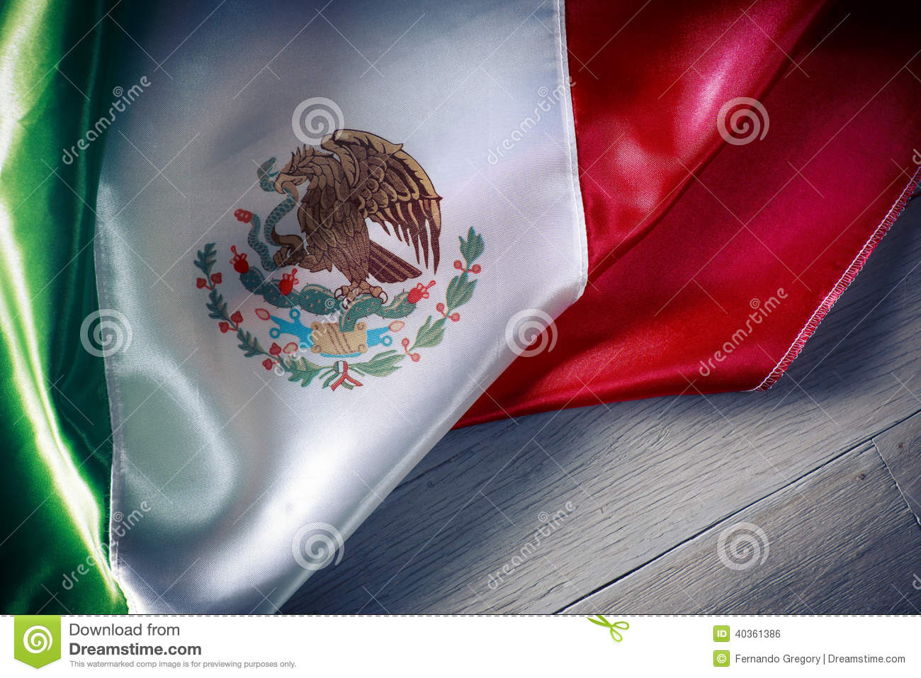 Mexican flag against a wooden background, independence day, cinco de mayo celebration