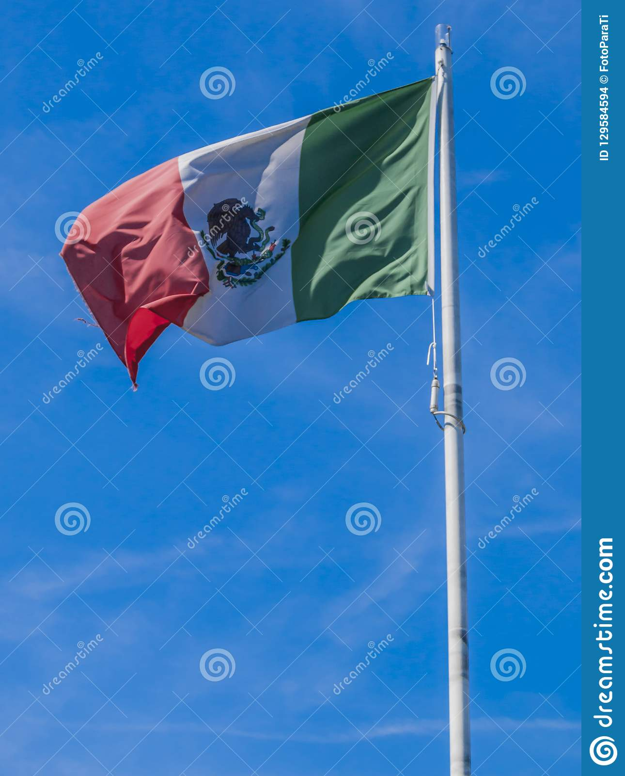 Mexican flag in the city of Rotterdam