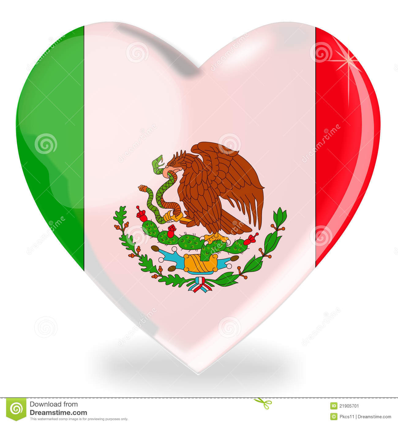 More similar stock images of ` Mexican flag heart shape `