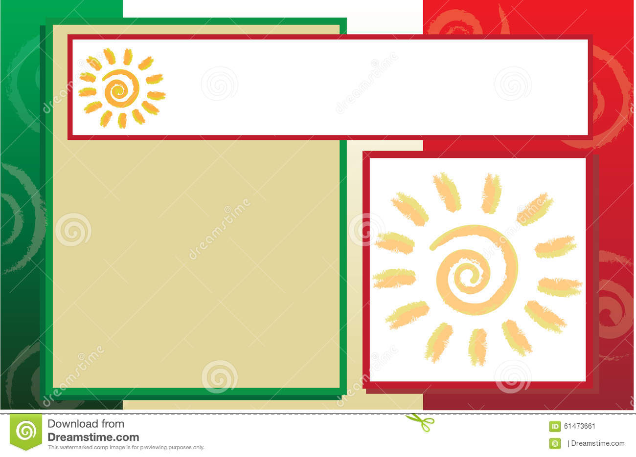 Mexican flag postcard brochure template stock illustration for Mexico brochure template