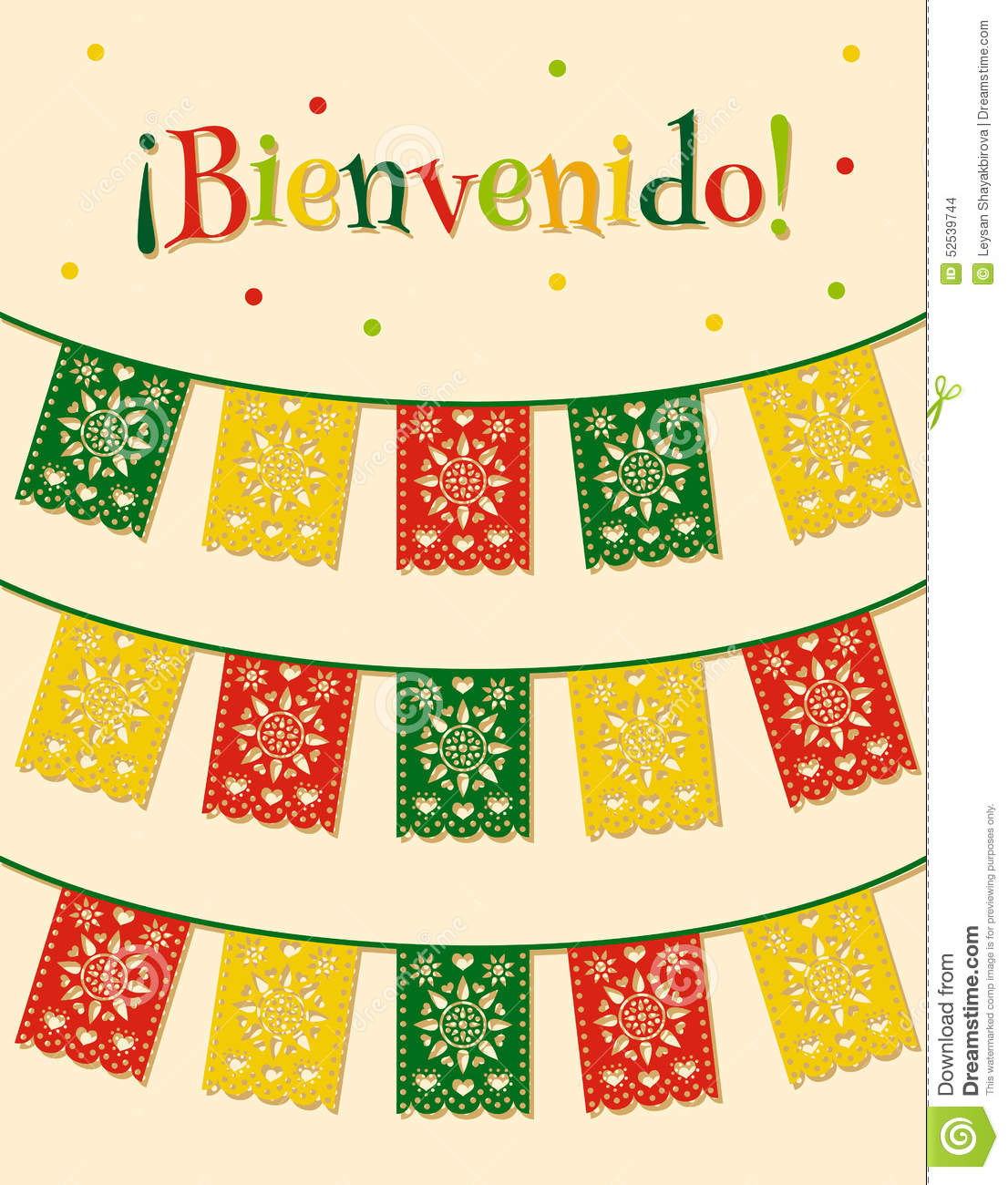 mexican flags stock vector image of fiesta culture