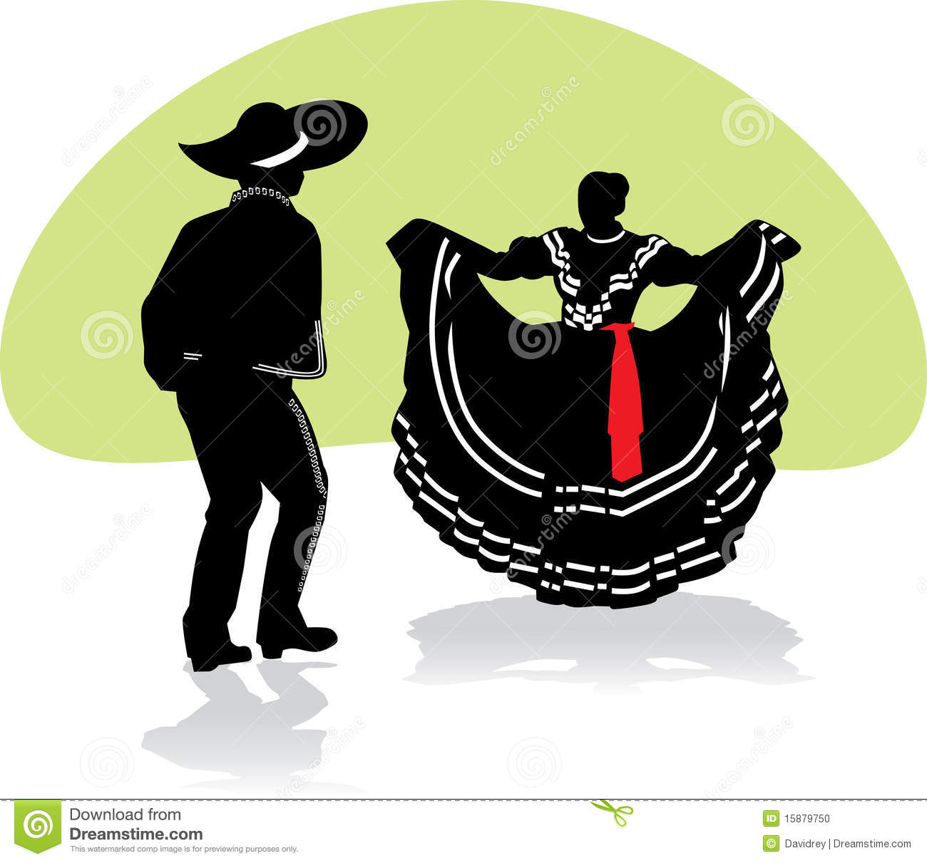 Mexican Folkloric Dance Couple Stock Photo - Image: 15879750