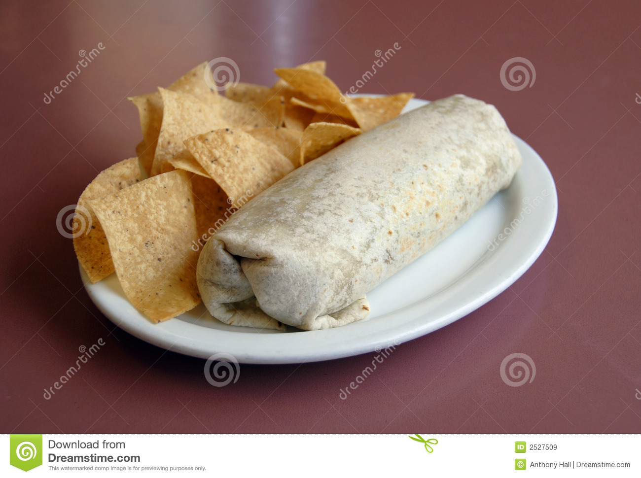 Mexican Food - Burrito & chips