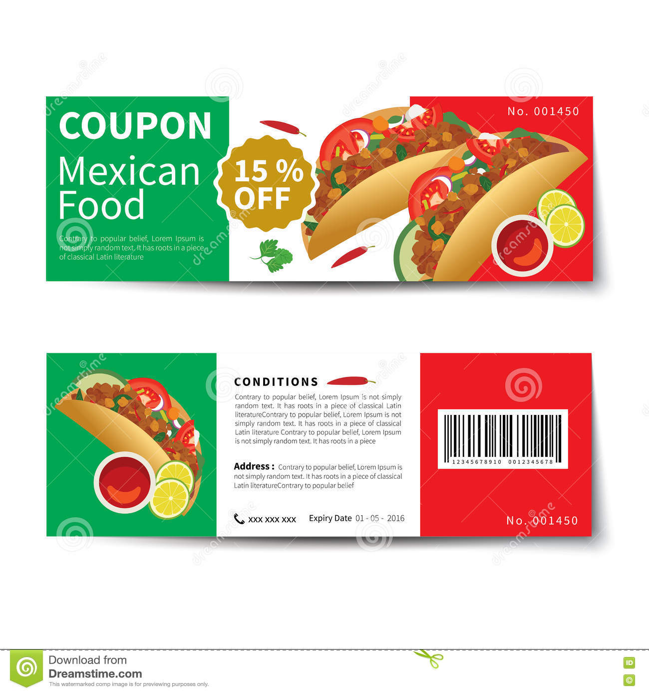 Discount coupon stock photo 37992606 for Free meal coupon template