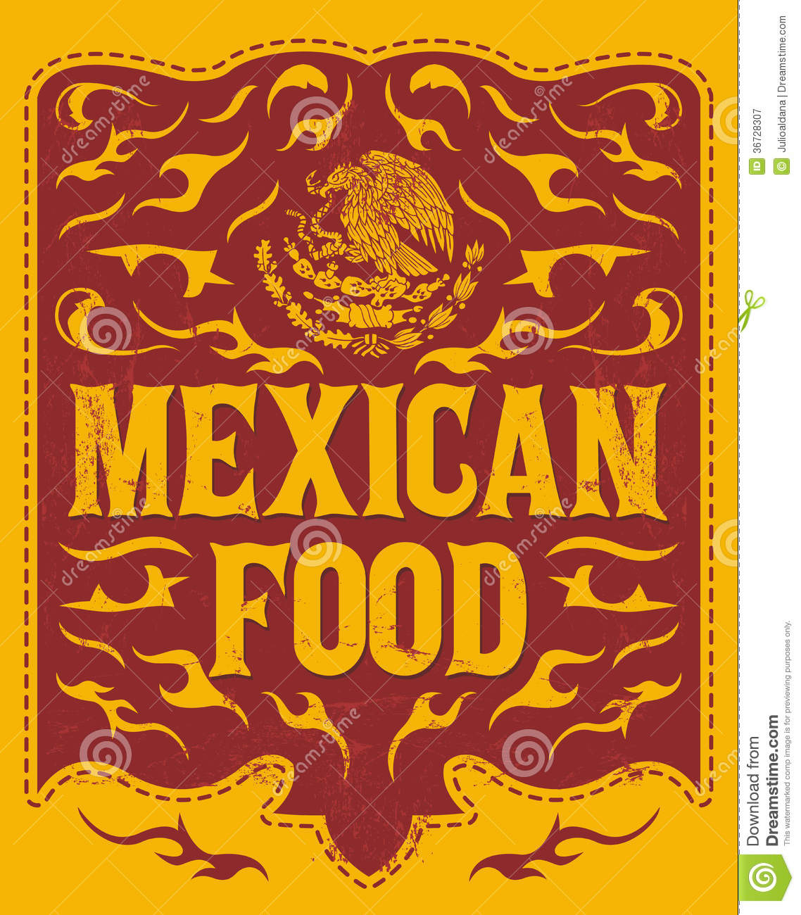 mexican food menu design illustration 36728307 - megapixl