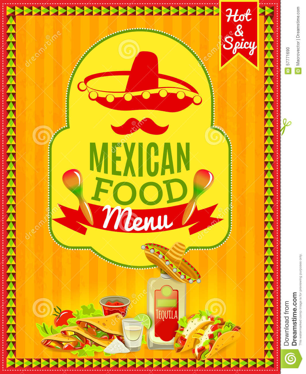 Mexican Party Invite with adorable invitation template