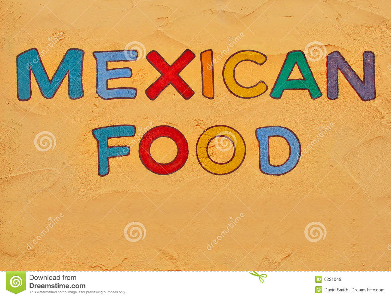 mexican food sign stock image. image of colors, bright - 6221049