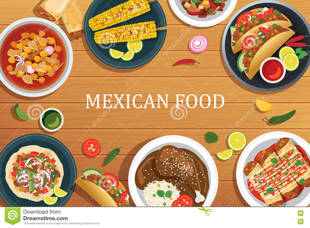Healthy Food At Mexican Restaurant