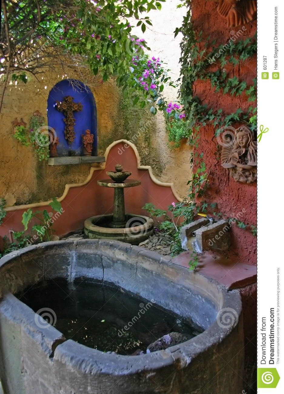 Mexican Garden Stock Image Of Peaceful Spiritual