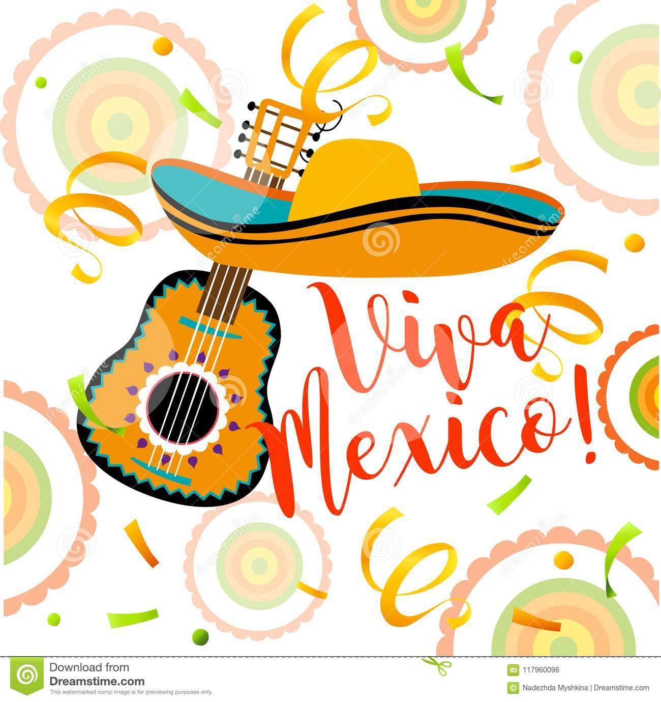Mexican greeting card mexican abstract background stock vector mexican greeting card mexican abstract background m4hsunfo