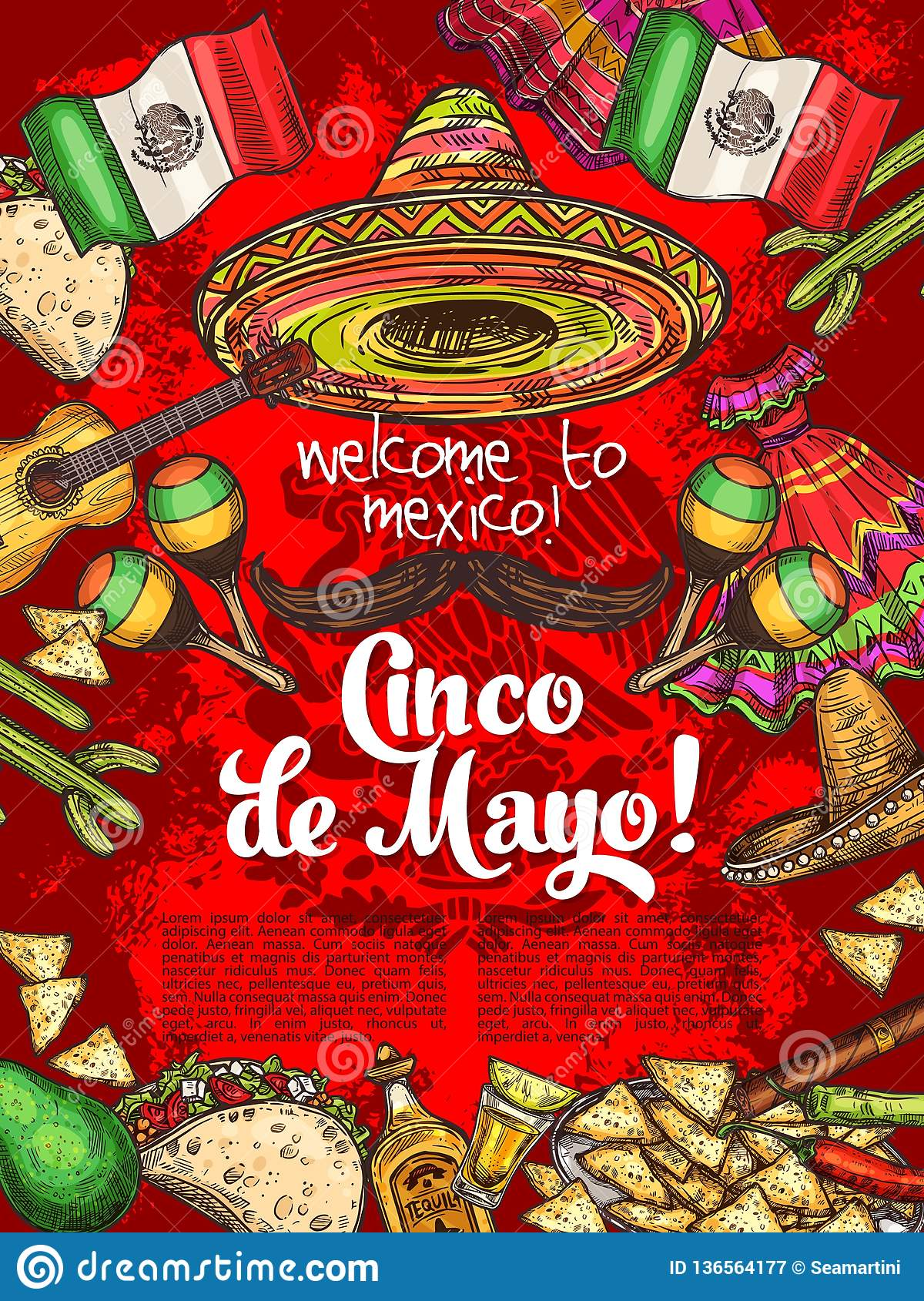 Mexican holiday, Cinco de Mayo day celebration