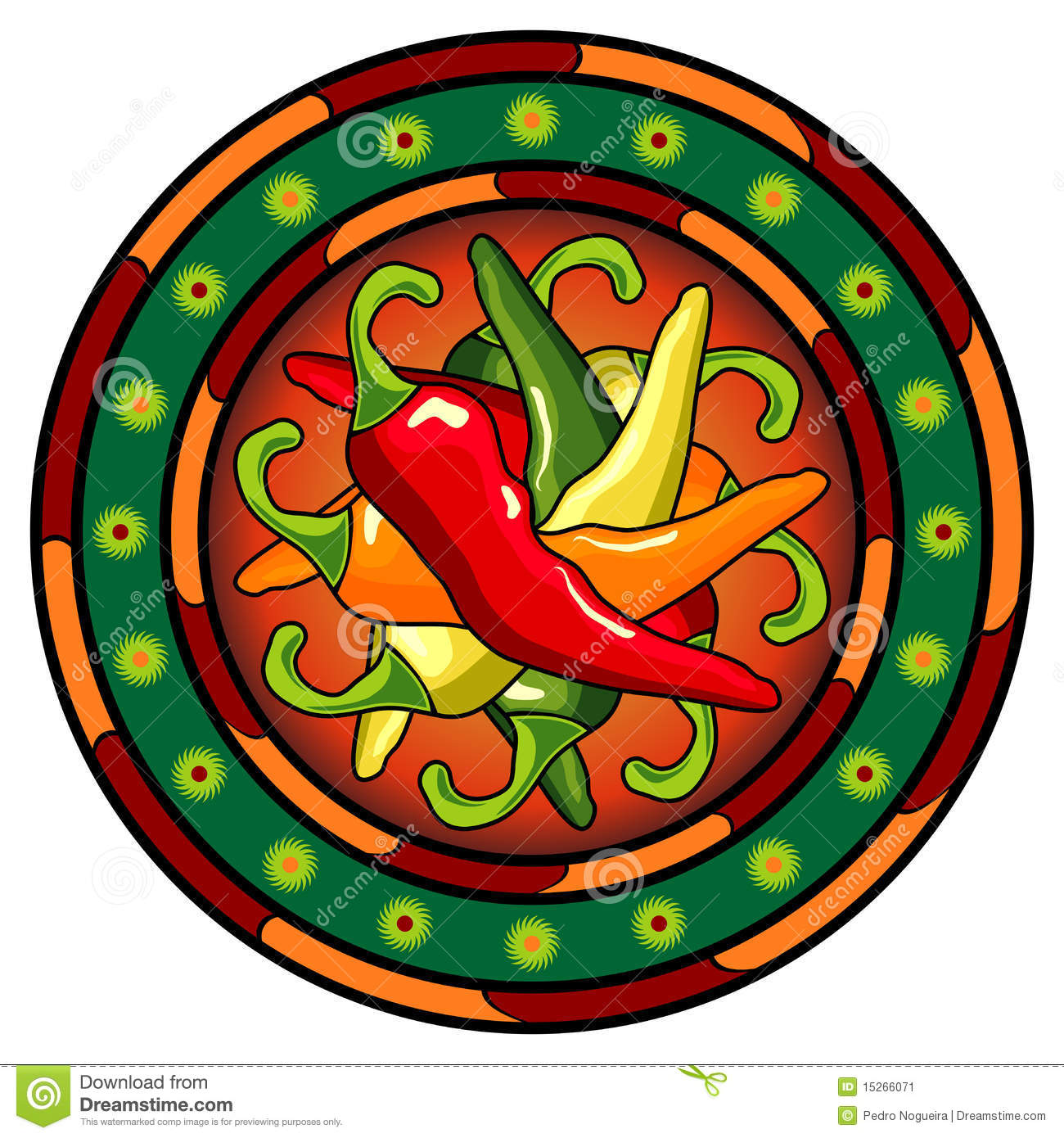 Mexican hot chili logo stock vector image of ancient for Mexican logos pictures