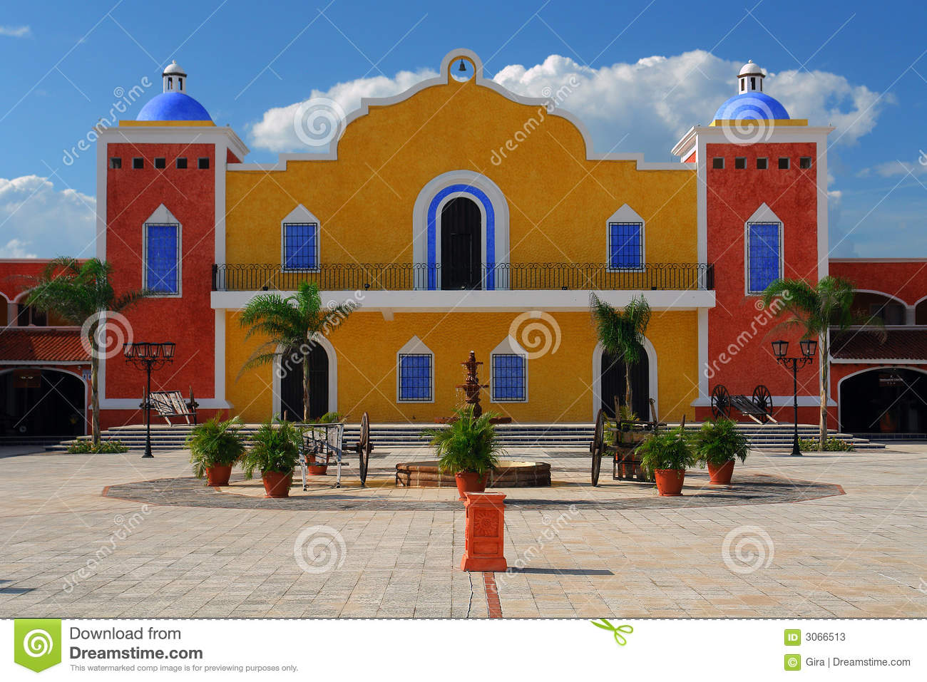 Download Mexican House Stock Image Of Square Typical Traditional