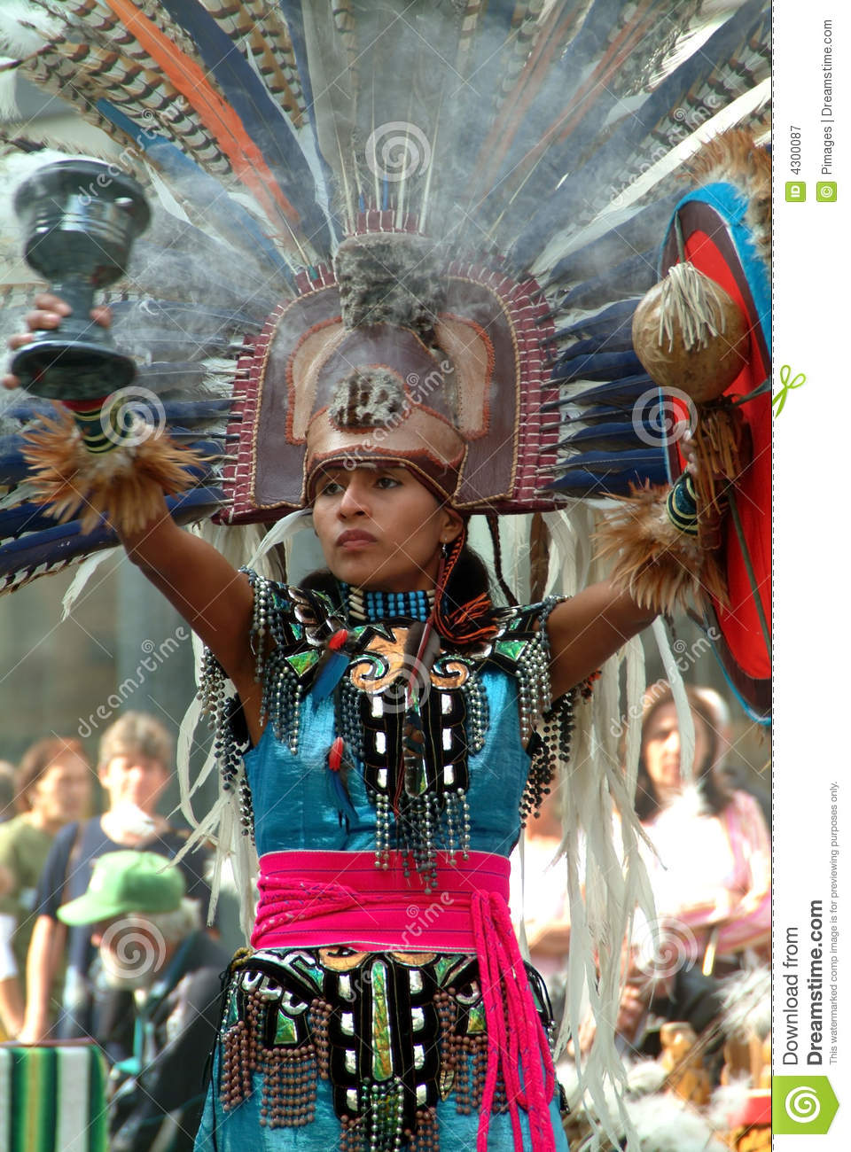 mexican indian maiden editorial photography
