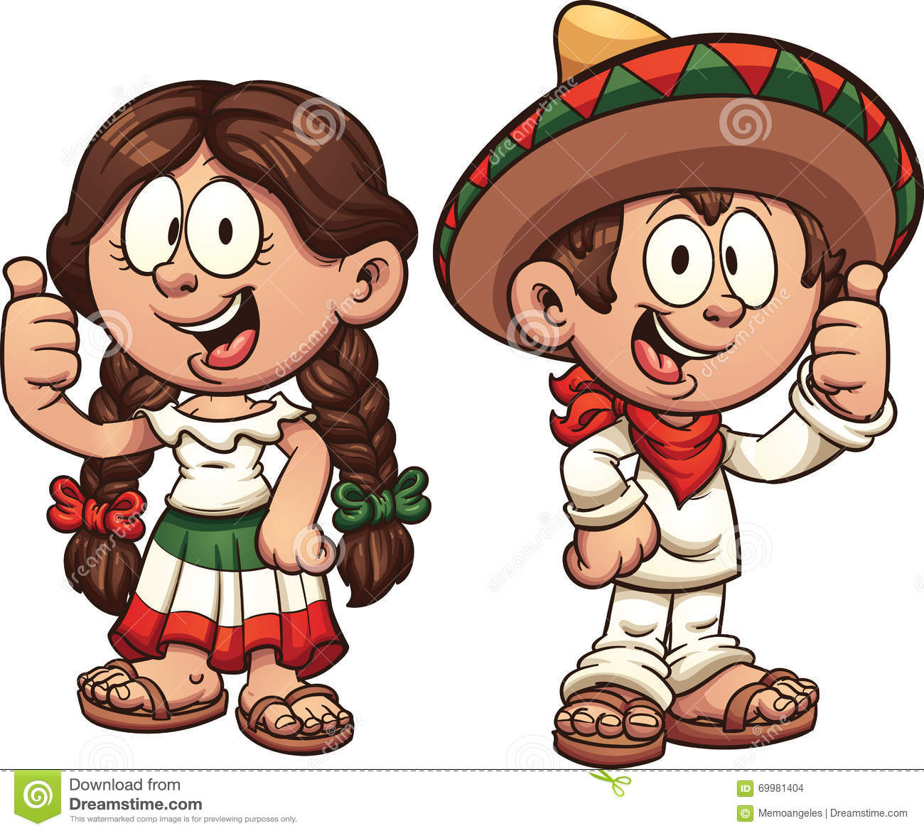 Mexican kids stock vector. Illustration of traditional